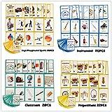 96PCS / Set Animal Aprendizaje Inglés Tarjetas Flash for niños Montessori Juguetes educativos Aula Decoración Memorie Juegos (Color : Style 4)