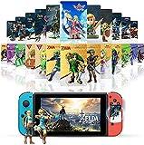 25 tarjetas NFC para The Legend of Zelda Breath of The Wild y Zelda: Skyward Sword, Zelda compatible con Switch/Lite Wii U – con caja para tarjetas