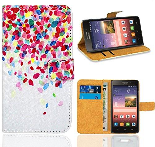 Huawei Ascend G620s Handy Tasche, FoneExpert Wallet Hülle Flip Cover Hüllen Etui Ledertasche Lederhülle Premium Schutzhülle für Huawei Ascend G620s