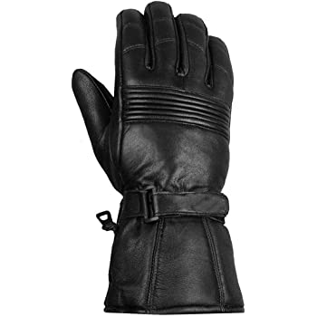 Men Premium Winter Motorcycle Biker Sheep Leather Gauntlet Thinsulate Gloves L