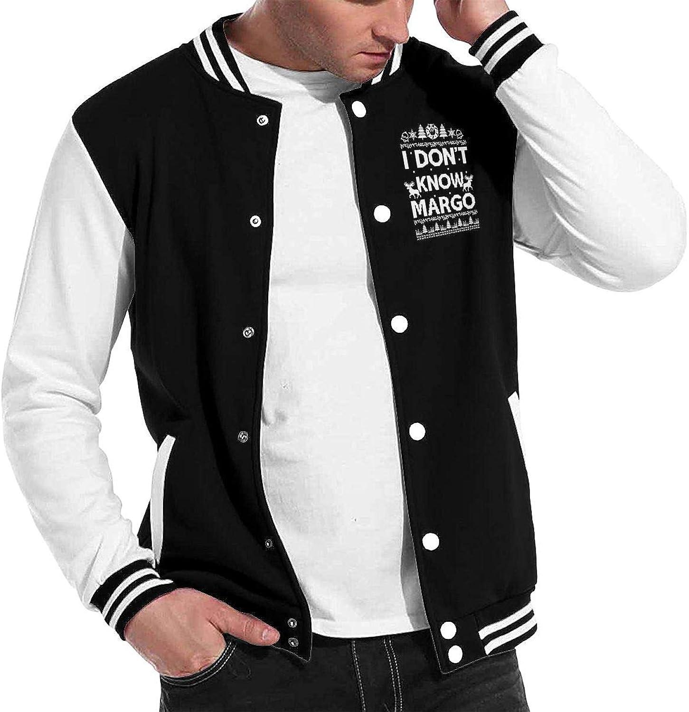 I Don't Know Margo Mens Womens Varsity Jacket Baseball Cotton Jacket Letterman Jacket Three color Unisex