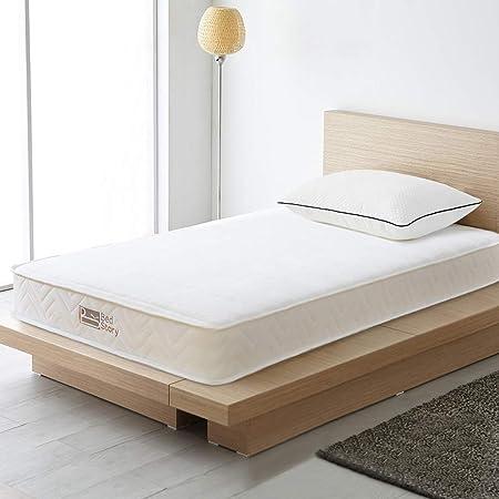 BedStory マットレス シングル ベッドマットレス 極厚19cm 高反発 高密度 ポケットコイルマットレス コイル数465個 並行配列 硬め 体圧分散 寝心地良い 通気性 幅97cm×奥行195cm 圧縮梱包