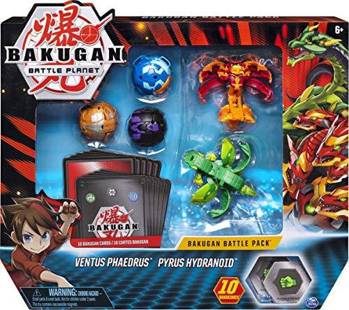 Bakugan 6045132 - Battle Pack mit 5 Bakugan (2 Ultra & 3 Basic Balls), unterschiedliche Varianten