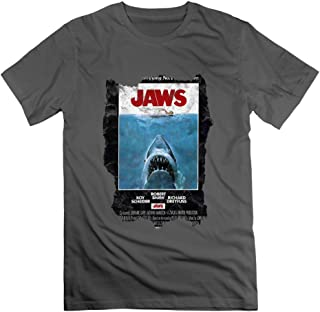 Classic-Adult Jaws Movie Poster T Shirt Shirt.