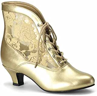 Pleaser Victorian Shoes Granny Boots Lace Accent Saloon Girl Shoes 05
