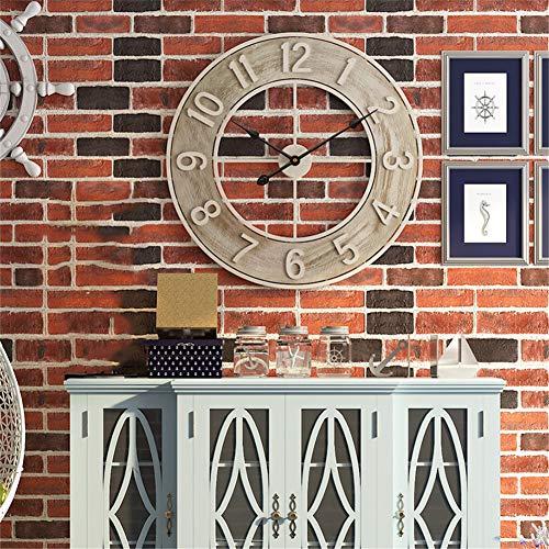 Framy 60 cm Große Wanduhr Dekorative 3D Uhren Nordischen Industriellen Stil Vintage Eisen Wanduhr für Home Bar Cafe Decor