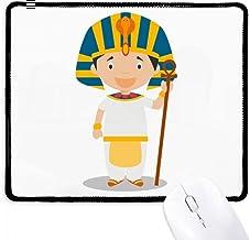 DIYthinker Sombrero amarillo Egipto de dibujos animados antideslizante Mousepad Juego de oficina Negro Titched Bordes regalo