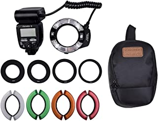 YONGNUO Professional YN14EX II Macro Ring Flash Light Kit with Large Size LCD Display Adapter Rings Color Temperature Filt...