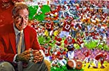 The first 5 Rings University of Alabama Football Crimson Tide Fine Art Print Poster 11x17 Nick Saban first 5 Championships Signed by Artist Mark Spears