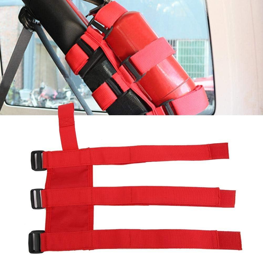 Cinghia per estintore Cinghia regolabile per cintura di fissaggio per estintore per auto per auto adatta per TJ YJ JK CJ Nero