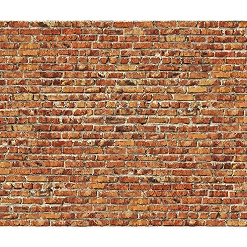 decomonkey | Papier peint intissé Mur de Pierre Noyaux 350x256 cm Trompe l oeil | Déco Mural Tableaux Muraux Photo Brique rouge brun