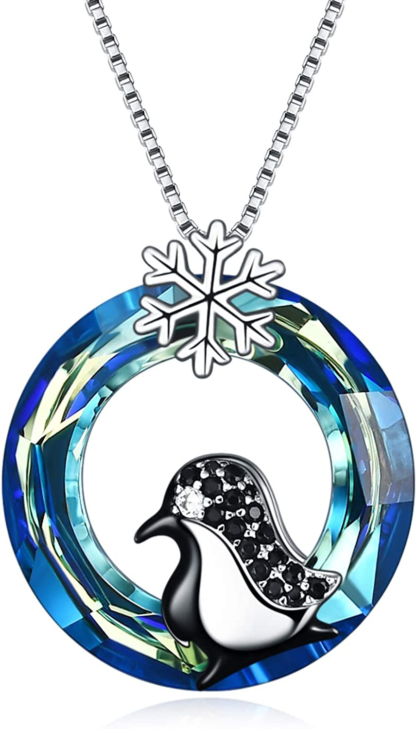 TOUPOP Many popular brands Penguin Gifts 925 Sterling with B Max 76% OFF Silver Necklace