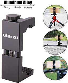 Metal Smartphone Tripod Mount with Cold Shoe Mount, iPhone Tripod Holder Grip Rig Clip for Nexus Samsung iPhone X 8 7 7s 6 6s Plus etc