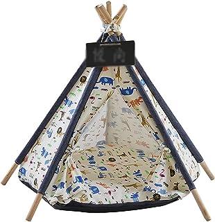 Kawaii wzór zwierzęcy namioty dla zwierząt namiot dla zwierząt dom dla kotów łóżko przenośne tipi z grubą poduszką Puppy w...