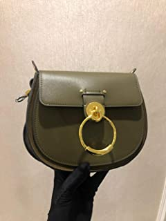 Luxury Women Bag For Designer Brand Saddle Bag Leather Ladies Crossbody Bag Fashion Ring Shoulder Bag Vintage Handbag