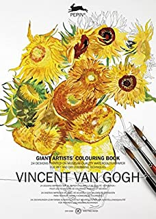 Van Gogh: Coloring Book XL (English and German Edition): Giant Artists' Colouring Book