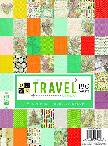 DCWV Paper Stack Kit de Scrapbooking, Papel, Multicolor, 21.59 x 27.94 Cama'