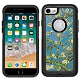 Teleskins Protective Designer Vinyl Skin Decals Compatible with Otterbox Commuter iPhone 7 / iPhone 8 / SE 2020 Case - Vincent Van Gogh Almond Blossoms Design Pattern - only Skins and not Case