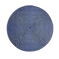 XXT コースターホームコースターキッチン断熱マットアンチやけどポットマットホームクリエイティブアンチスキッドコースター(4個) (Color : Blue, Size : 36CM*36CM)