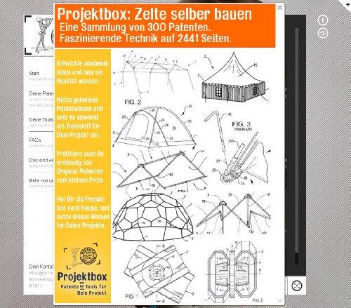 Zelte selber bauen: Deine Projektbox inkl. 300 Original-Patenten bringt Dich mit Spaß ans Ziel!