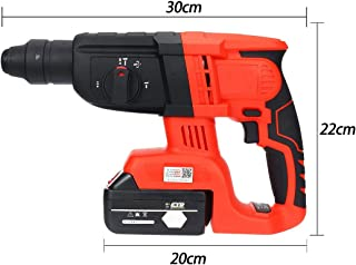 QWERTOUY 3 in 1 110-240V 88V/128V/228V Electric Cordless Brushless Hammer Drill Impact Power Drill with Lithium Battery Rechargea,88v10000mah