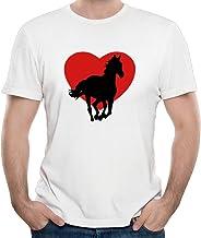 Duxa Men's I Love Horses In A Big Red Heart Symbol T-shirts