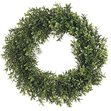 17  Boxwood Wreath Two Tone Green (Pack of 1)