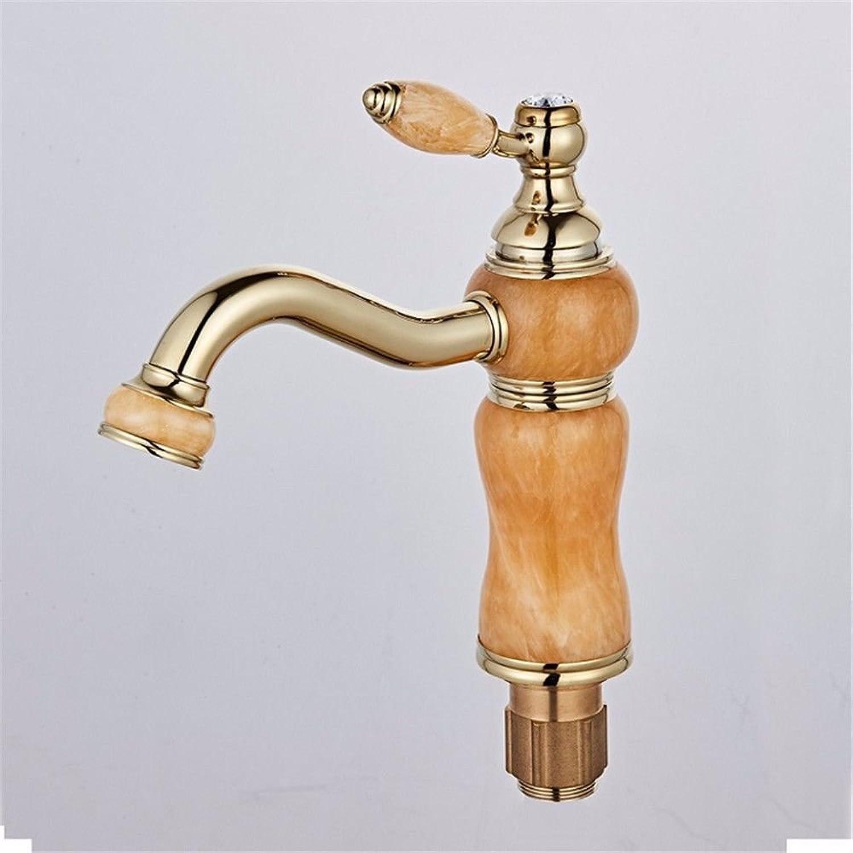 ETERNAL QUALITY Badezimmer Waschbecken Wasserhahn Messing Hahn Waschraum Mischer Mischbatterie Die Jade Stil der Mischen von heiem und kaltem Wasser Hahn Badezimmerschra