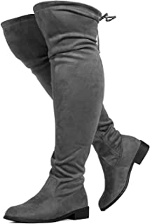 Women's Wide Calf Stretchy Over The Knee Riding Boots