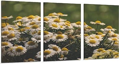 Groene achtergrond van bloemen en buitenplanten canvas kunst poster en kunst kunst foto afdrukken moderne familie slaapkam...