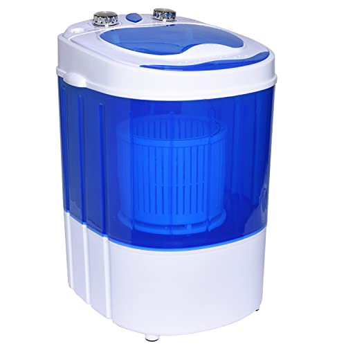 Ivation Mini Portable Washer/Spinner – Compact Size Perfect for Travel, Dorms & Apartments – Ideal for Washing Small Loads & Delicates at Home