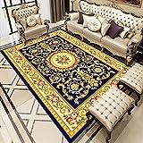 N\W Alfombra vintage para sala de estar, dormitorio, antideslizante, lavable, étnica, retro, de Europa del Norte