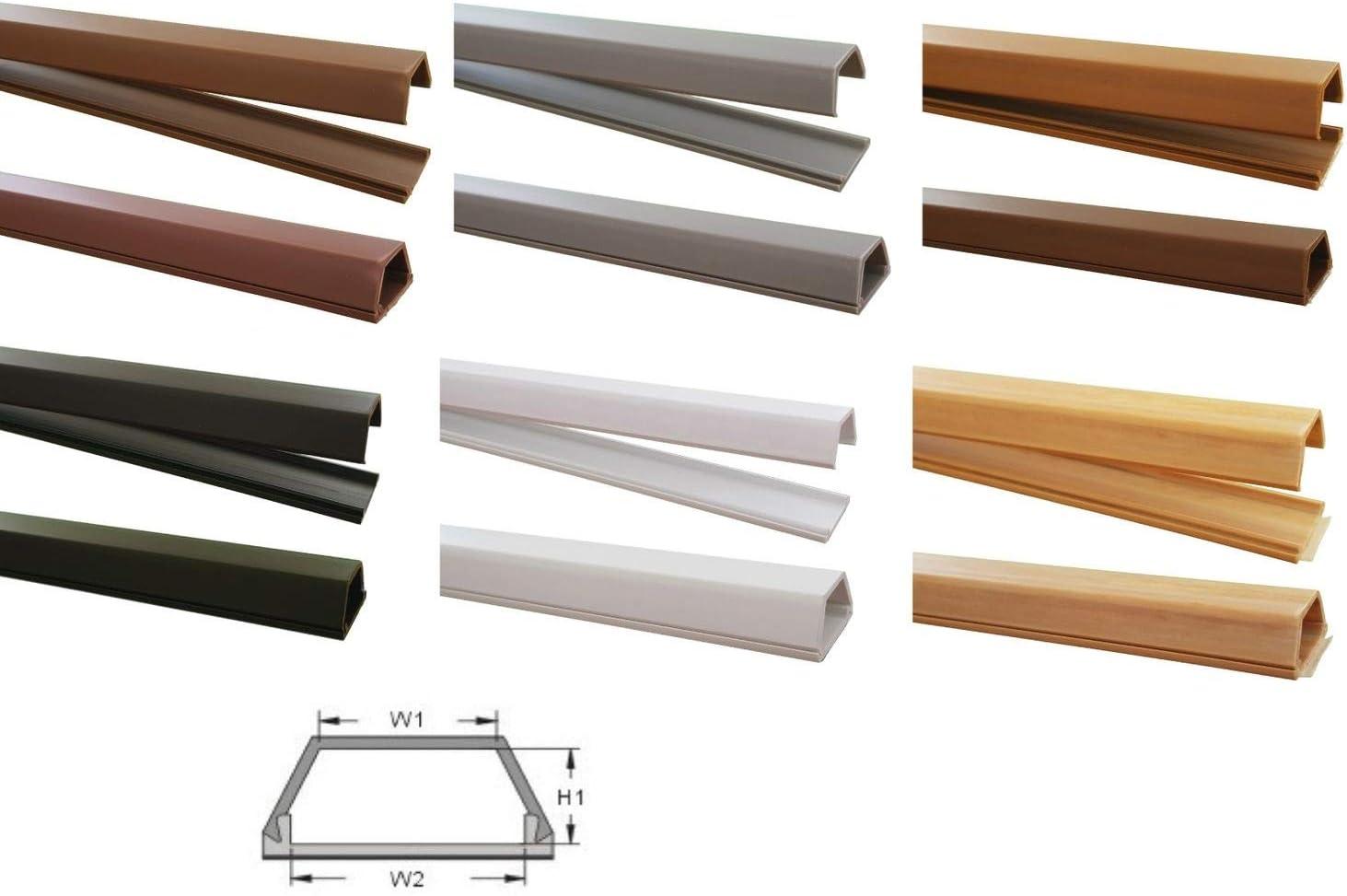 1m Kabelkanal 15x10mm Innenmaß Selbstklebend Versch Farben Verbinder Verfügbar Farbe Schwarz Baumarkt