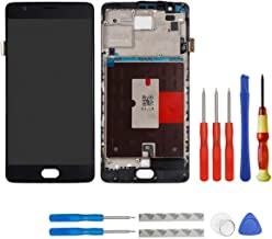 E-yiiviil Screen Replacement Compatible for Oneplus 3 1+3 Display LCD Touch Screen with Frame (Black)+ Tools