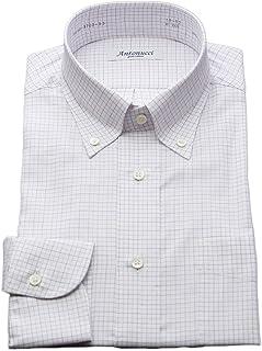 [アントヌーチ] ワイシャツ メンズ 長袖 スリム 綿100 ボタンダウン チェック タッタソール 3702-B3