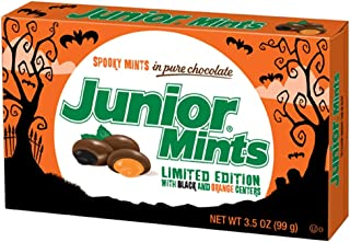 Halloween Spooky Junior Mint Chocolate Candy Movie Theater Box, 3.5 oz (Pack of 12)