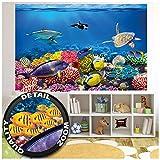 GREAT ART XXL Poster Kinderzimmer – Aquarium – Wandbild