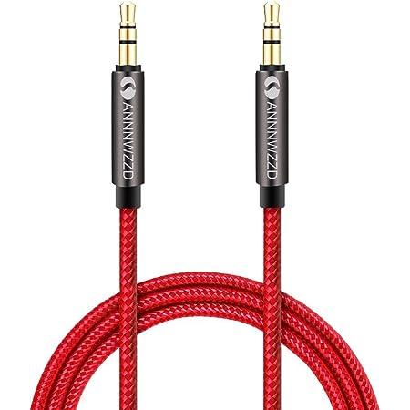 Linkinperk AUX cavo 3.5 mm nylon cavo audio maschio a maschio/AUX cavo per autoradio,Smartphone,Cuffie,MP3 altro(0.5m)