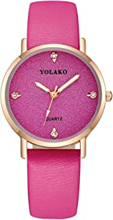 Hessimy Womens Fashion Watches New Ladies Business Bracelet Classic Luxury Exquisite Watch Casual Simple Leather Band Teen Girls Gift Retro Analog Quartz Wrist Watches for Women On Sale