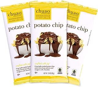 Chocolate Bars - Chuao Chocolatier Chocolate Bars 3pk (2.8 oz bars) - Best-Selling Chocolate Pack - Gourmet Artisan Chocolate - Free of Artificial Flavors (Potato Chip, Milk Chocolate)