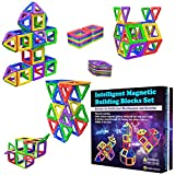 Desire Deluxe Magnetische Bausteine Magnet Montessori Spielzeug für Kinder 40PC Set Teilen ab 3 4 5 6 7 8 Alter Jahren, ideales Lernspielzeug für Mädchen Jungen Koordination und zum Bauen in Geschenk