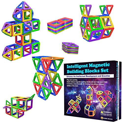 Desire Deluxe Magnetic Building Blocks 40pc Construction Toys Set for Kids...