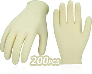 TOPBATHY 100pcs Disposable Gloves Clear Plastic Waterproof Gloves Multipurpose Gloves for Cleaning Washing Working Cooking Size S