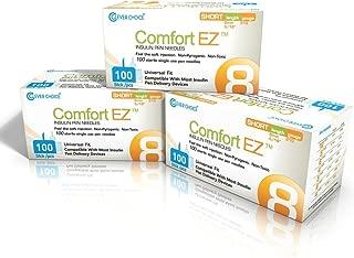 Clever Choice Comfort EZ Insulin Pen Needles 31G 8mm 3-pack (300 needles)