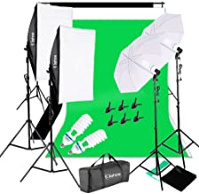 Kshioe 1700W 5500K Umbrellas Softbox Continuous Lighting Kit with Backdrop Support System for Photo Studio Product, Portra...