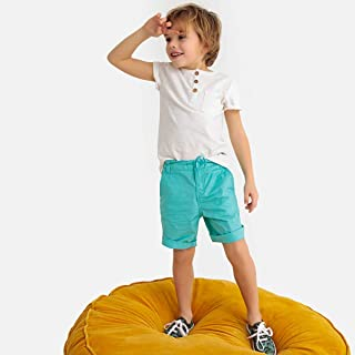 La Redoute Collections Boys Cotton Buttoned Short-Sleeved T-Shirt, 3-12 Years