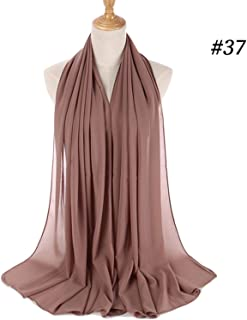 women plain bubble chiffon scarf hijab wrap printe solid color shawls scarves/scarf 47 colors