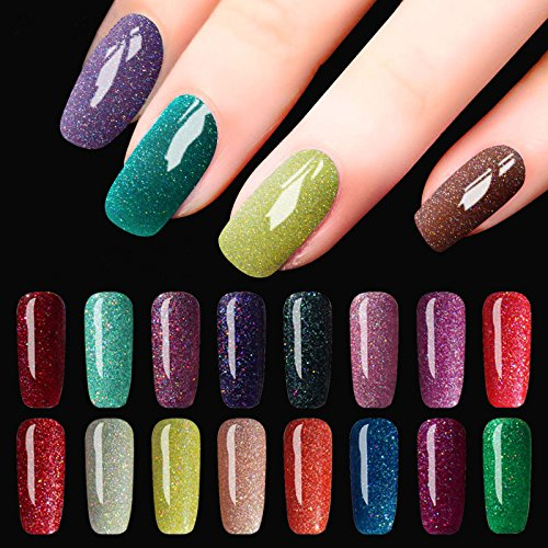 bureze DECOUVRIR 8ml Brillante Neón UV Gel Polish Nail Art COLORES Shimmer Soak Off Colorful