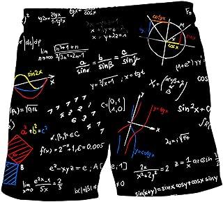 BESPORTBLE 1 Pcs Pants Creative Printing Formula Beach Pants Short Pants Quick Drying Pants for Swimming Summer Pool Party
