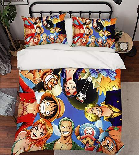 AJ WALLPAPER 3D One Piece 081 Fundas De Almohada Edredón Juego De Funda Nórdica Soltero Reina Rey 3D Foto Lecho ES Wendy (SuperKing)